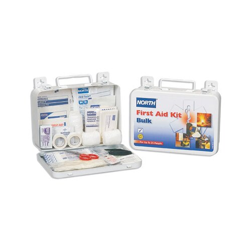 North Safety Person Bulk First Aid Kit In Metal Box