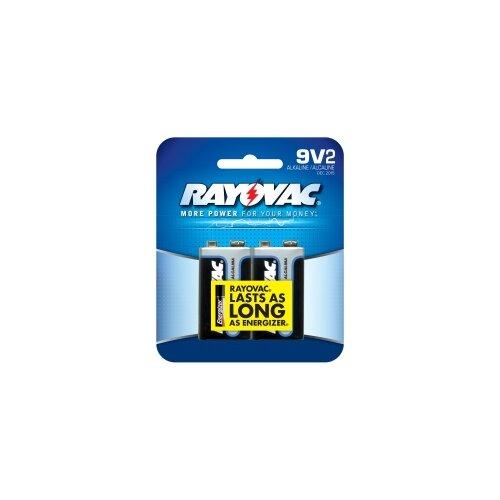 Rayovac 9V Alkaline Battery (Pack of 2)
