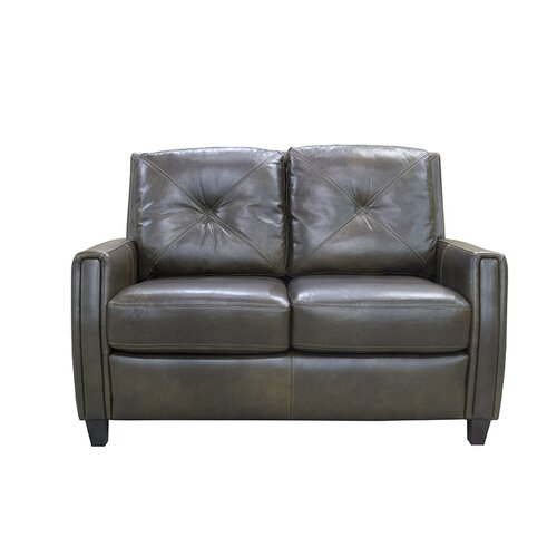 Topeka Leather Loveseat