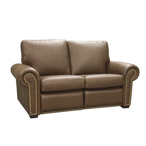Aurora Leather Reclining Loveseat