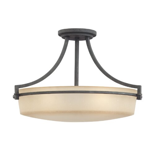 Quoizel Caitlyn 4 Light Semi Flush Mount