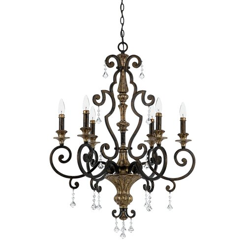 Quoizel Marquette 6 Up Light Chandelier
