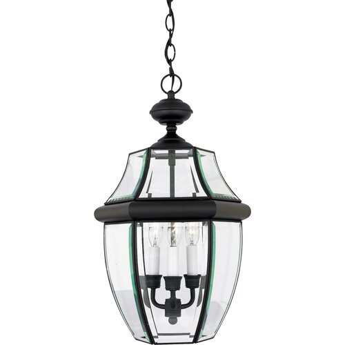 Quoizel Newbury 3 Light Outdoor Hanging Lantern