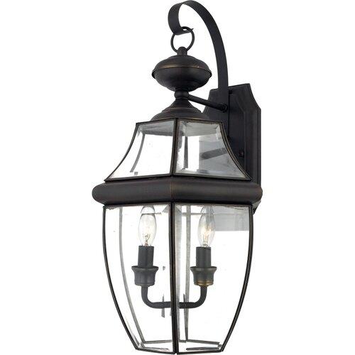Quoizel Newbury 2 Light Outdoor  Wall Lantern