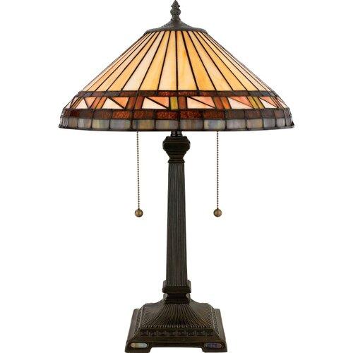 "Quoizel Estacado Tiffany 23"" H Table Lamp with Empire Shade"