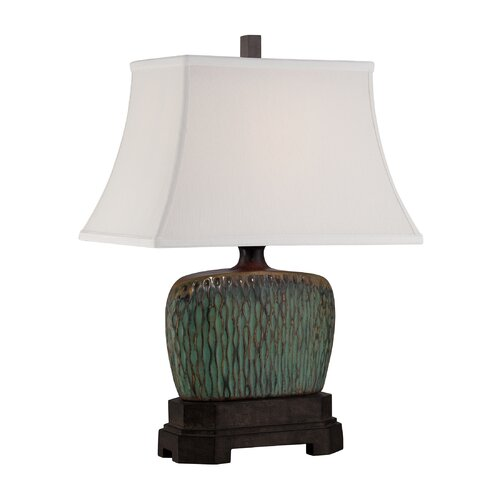 """Quoizel Niagra 24"""" H Table Lamp with Rectangle Shade"""