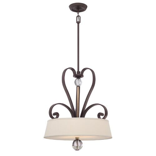 Uptown Madison Manor 4 Light Pendant