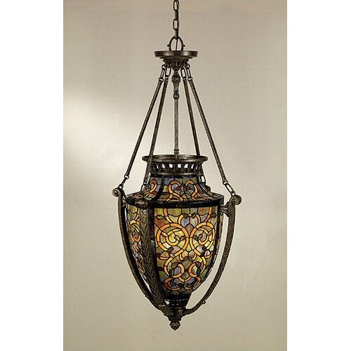 Quoizel Anfora 4 Light Tiffany Foyer Pendant