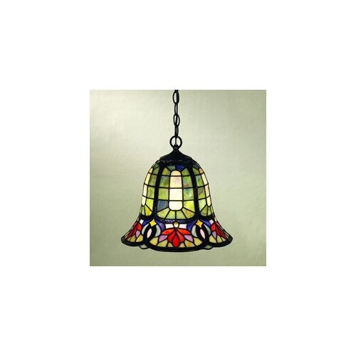 Hyacinth 1 Light Tiffany Pendant