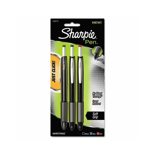 Sharpie® Porous Point Retractable Permanent Water Resistant Pen, 3/Pack