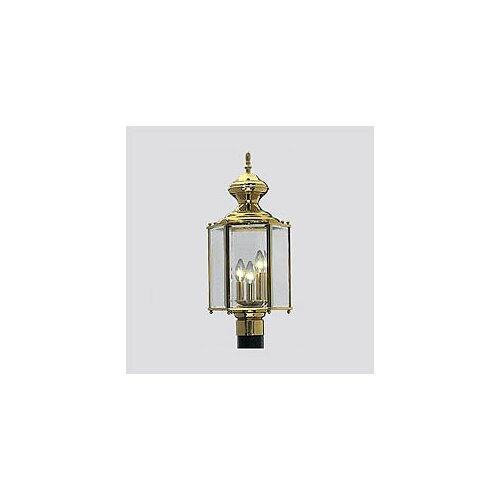 Progress Lighting Brass Guard 3 Light Post Lantern