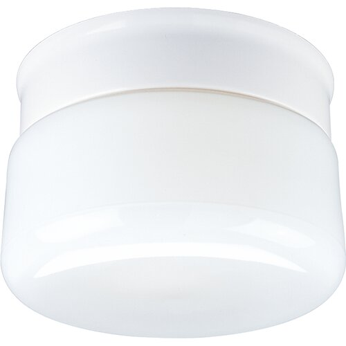 White Glass Snap-in Fitter Flush Mount
