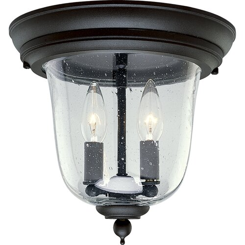 Progress Lighting Ashmore Old World Style 2 Light Flush Mount