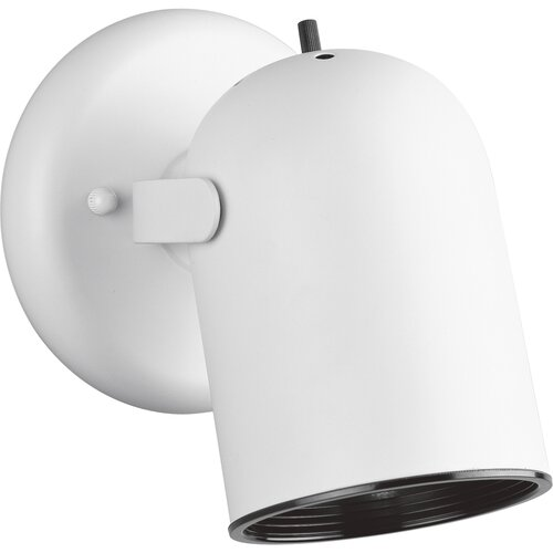 Progress Lighting 50W  Round Back Directional Wall Sconce  in White