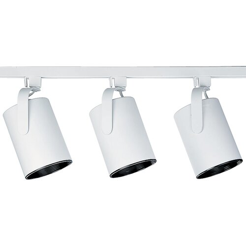 Progress Lighting AlphaTrak  Flat Back Head Kit in Bright White