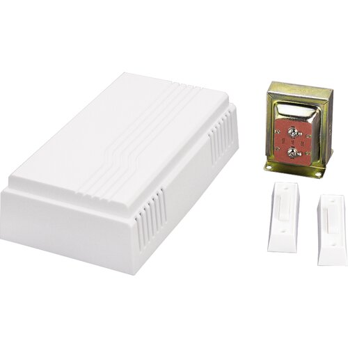 Textured White Door Chime Kit with One Chime