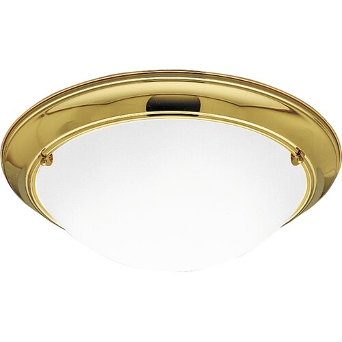 Progress Lighting Eclipse  Flush Mount in Polished Brass
