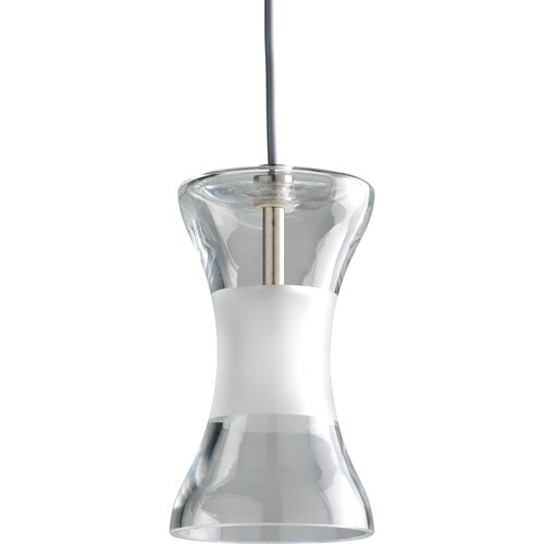 Illuma-Flex Mini Pendant with Clear and Etched Glass