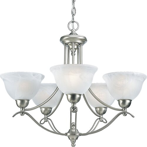 Avalon 5 Light Candle Chandelier