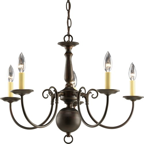 Americana 5 Light Candle Candle Chandelier