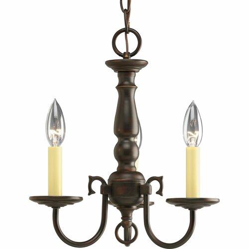 Americana 3 Light Candle Chandelier