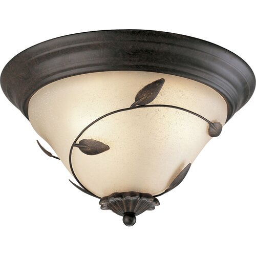 Eden 3 Light Semi Flush Mount