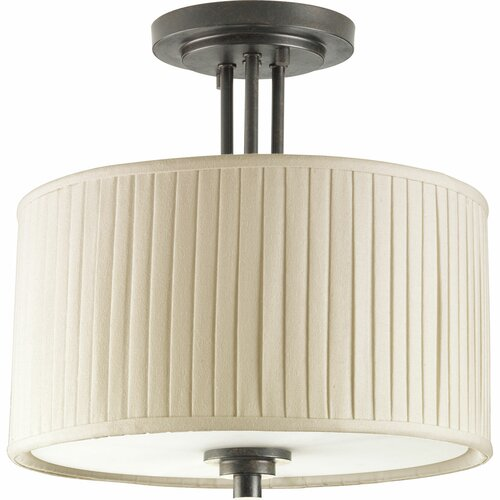 Clayton 2 Light Semi Flush Mount