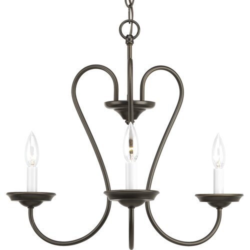 Heart 3 Light Candle Chandelier