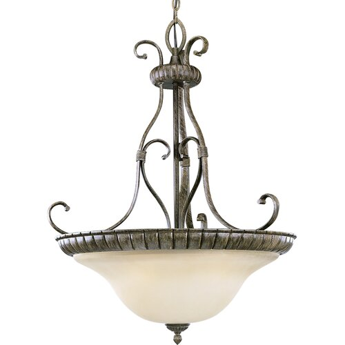 Progress Lighting Bourbon Street 3 Light Bowl Inverted Pendant