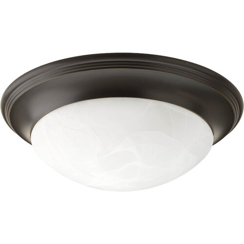 Progress Lighting Alabaster 1 Light Flush Mount