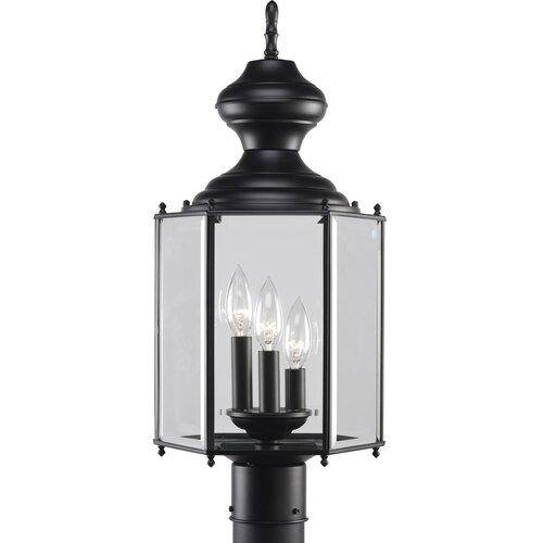 Progress Lighting BrassGuard 3 Light Post Lantern
