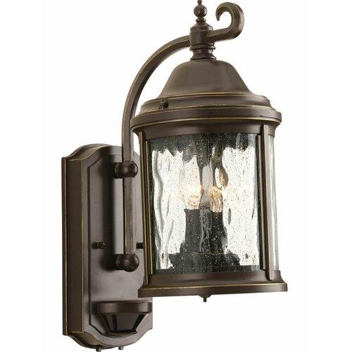 lighting ashmore 2 light outdoor wall lantern with motion. Black Bedroom Furniture Sets. Home Design Ideas