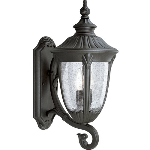 Progress Lighting Meridian Candelabra 2 Light Outdoor Wall Lantern