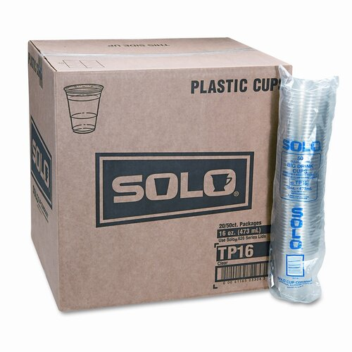 Solo Cups Company Party Cold Cups, 20 Packs of 50, 1000/Carton