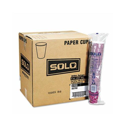 Solo Cups Company Bistro Design Hot Drink Cups, 1000/Carton