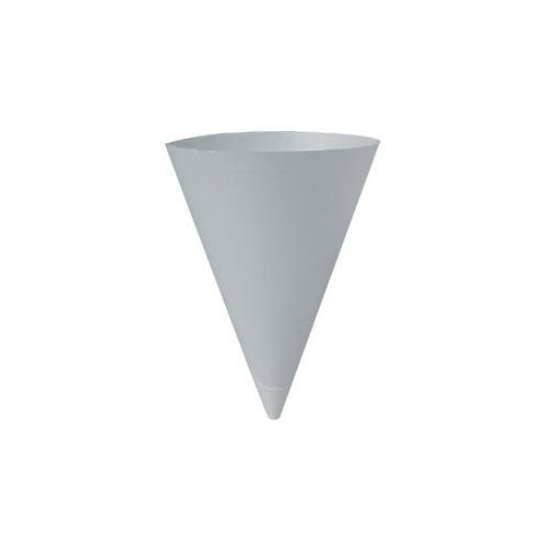 Solo Cups 250/Bag Bare Treated Paper Cone Water Cups in White