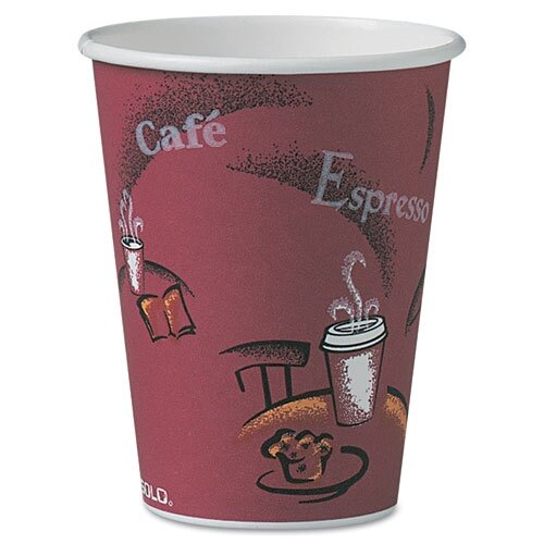 Solo Cups Company Bistro Design Hot Drink Cups, 12 Oz., 300/Carton