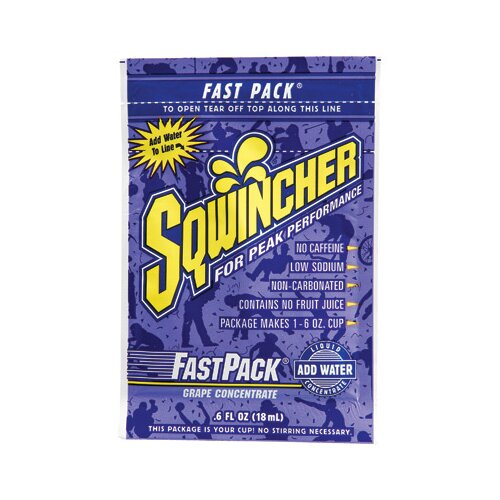 Sqwincher 6 Ounce Fast Pack® (50 Single Serving Drink Mix Packs Per Box)
