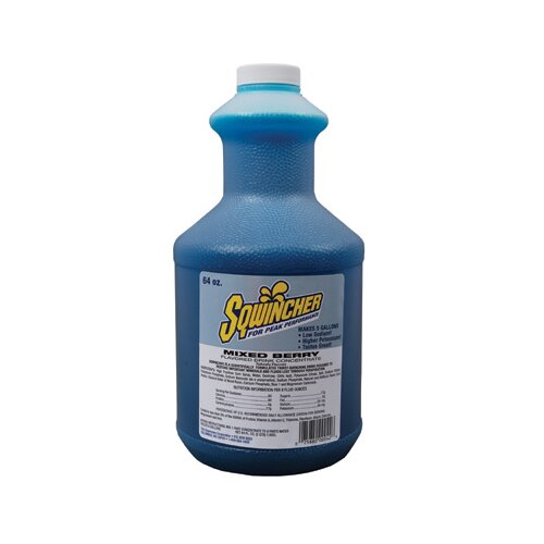 Sqwincher Berry 64 Ounce Liquid Concentrate Bottle Yields 5 Gallons