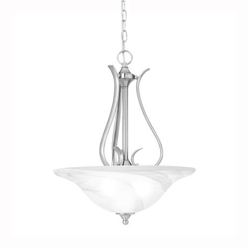 Prestige 3 Light Inverted Pendant