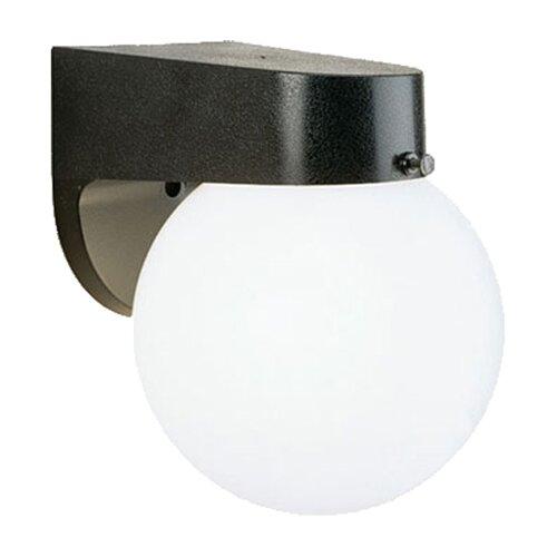 Progress Lighting Cast Aluminum Incandescent 1 Light Globe Outdoor Wall Sconce & Reviews Wayfair