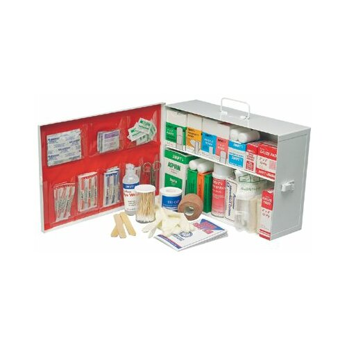 Swift First Aid Swift First Aid - Small Industrial 140 First Aid Cabinets 2 Shelf Standard - Pumpspray W/Liner: 714-34140Lfp - 2 shelf standard - pumpspray w/liner