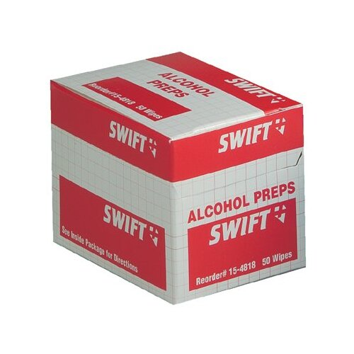Swift First Aid Alcohol Wipes - alcohol wipes 50/bx
