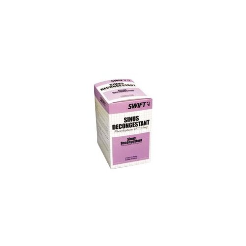 Swift First Aid Sinus Decongestant 2/Env 250Env/Box 12/Bx/Cs