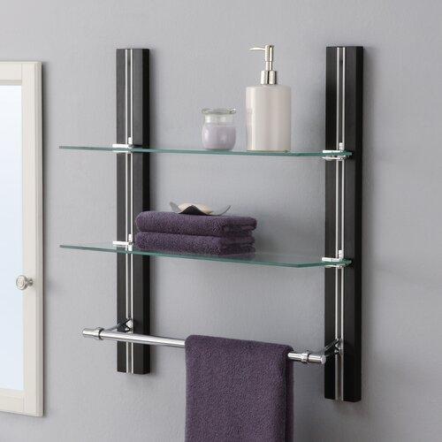 Oia W X 22 5 H Two Tier Bathroom Shelf With Towel