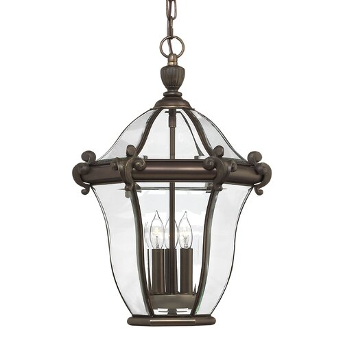 Hinkley Lighting San Clemente 3 Light Outdoor Hanging Lantern