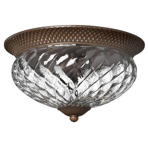 Hinkley Lighting Plantation 3 Light Flush Mount
