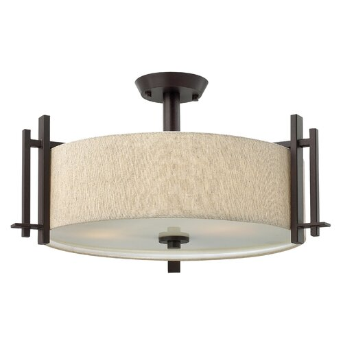 Sloan 3 Light Semi Flush Mount