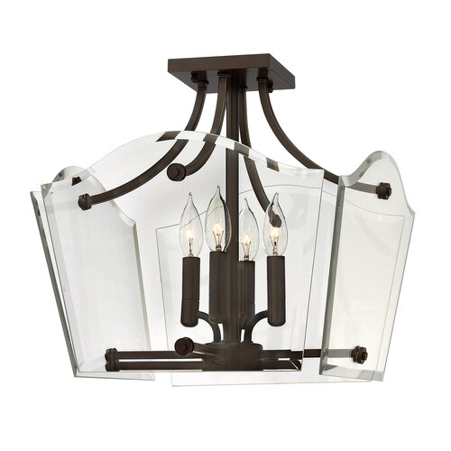 Hinkley Lighting Wingate 4 Light Semi Flush Mount Foyer