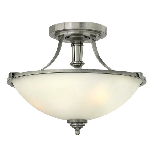 Truman 3 Light Semi Flush Mount Foyer